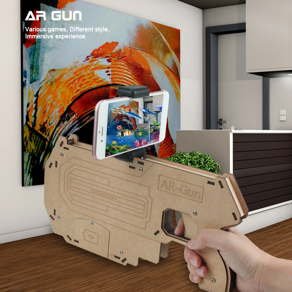 Wooden AR Game Gun Bluetooth Control Pistol