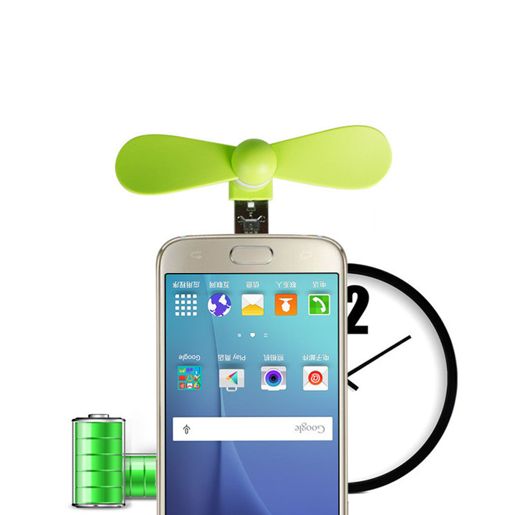 Cute Mini Mobile Phone USB Fan