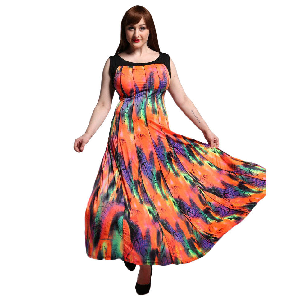 Colorful Plus Size Summer Dress