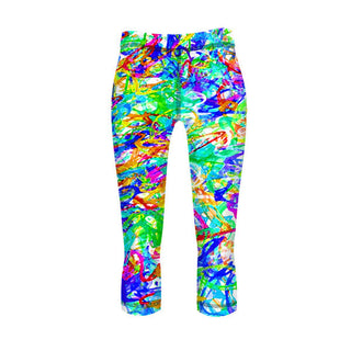 Splashy Graffiti Fitness Leggings