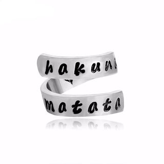 """Hakuna Matata!"" Lion King-Inspired Wrap Ring with a Heart Inside"