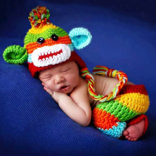 Newborn Monkey Crochet Costume