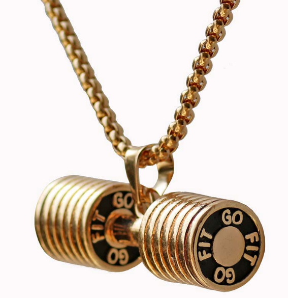 Go Fit Dumbbell Necklace