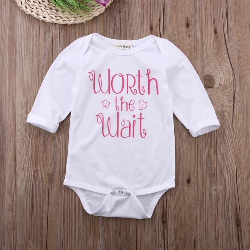 "Baby Girl ""Worth The Wait"" Jumpsuit"