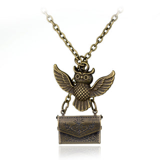 Hogwarts Owl and Letter Necklace