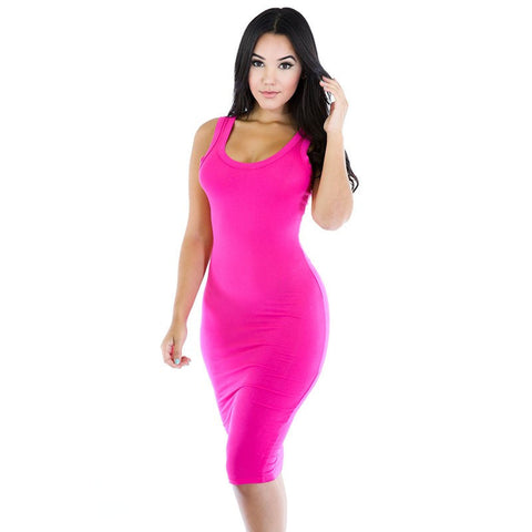 8 Color Hip Dress