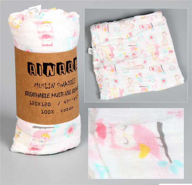 Muslin Cotton Baby Blanket & Towel