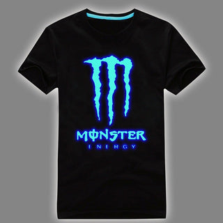 Men's Fluorescent Blue Luminous Shirt