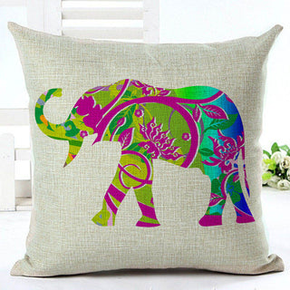Colorful Elephant Pillowcase