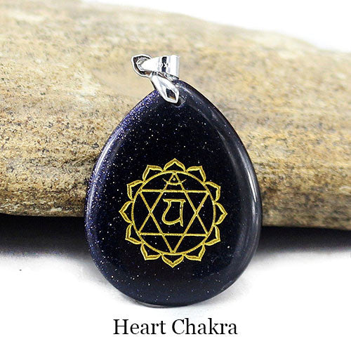Natural Stone Chakra Pendant Necklace