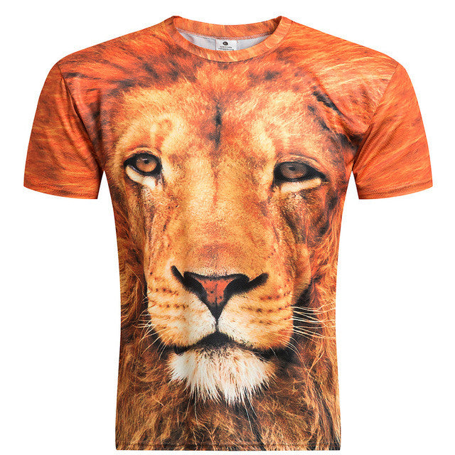 Lion Printed Casual T-shirt