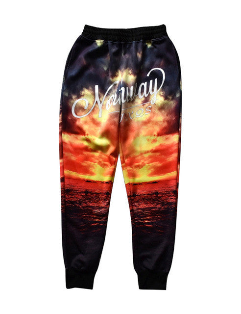 Autumn 3d Graphic Jogger Pants