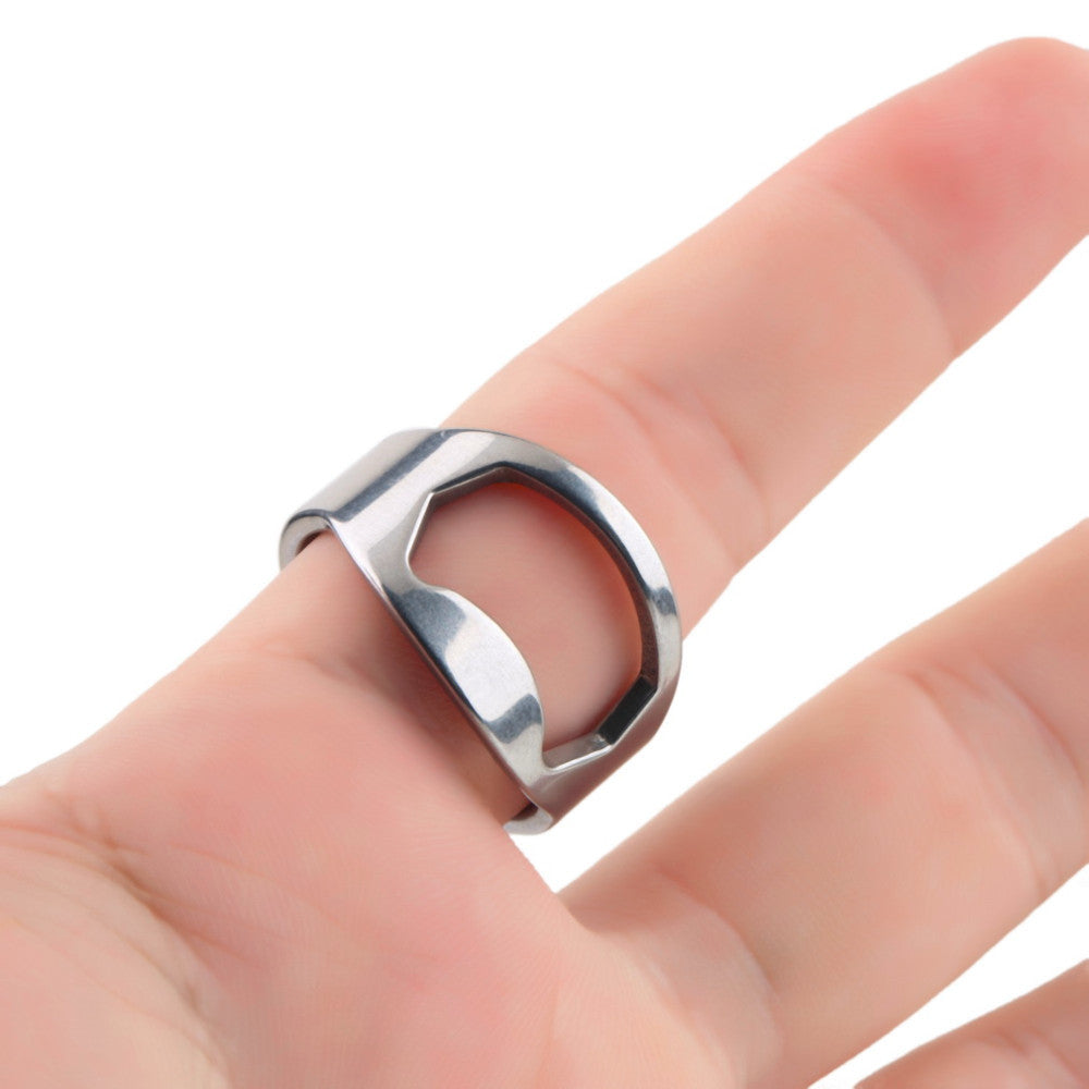 TWO Stainless Steel Beer Bottle Opening Rings - themdeals - 3