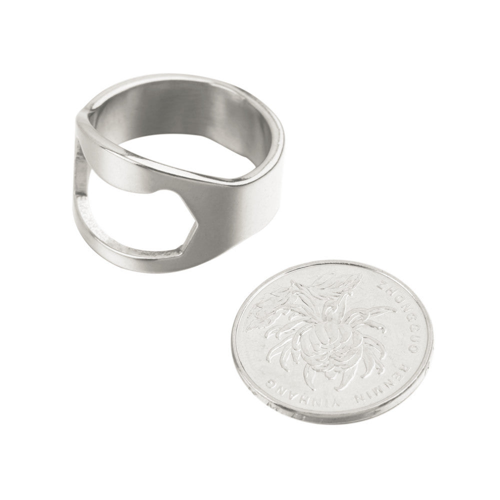 TWO Stainless Steel Beer Bottle Opening Rings - themdeals - 5
