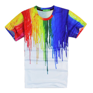 Colorful Melted Graphic Shirt