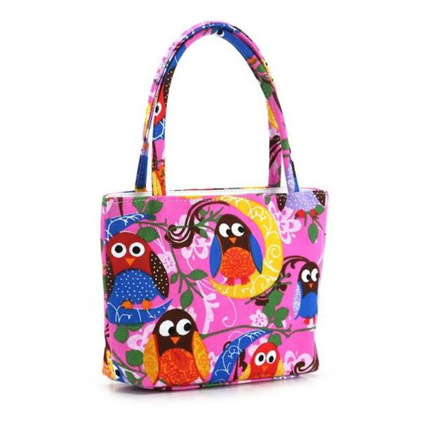 Colorful Owl Makeup Handbag