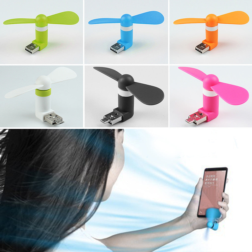 Cute Mini Mobile Phone USB Fan - themdeals - 5