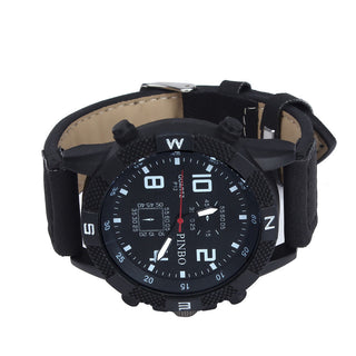 Luxury Men's Canvas strap Large Dial Military Sport Quartz Wrist Watch