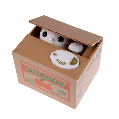 Greedy Cat or Panda Steal Coin Piggy Bank Automated Savings Box - themdeals - 5
