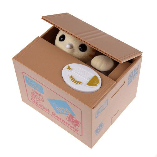Greedy Cat or Panda Steal Coin Piggy Bank Automated Savings Box - themdeals - 3
