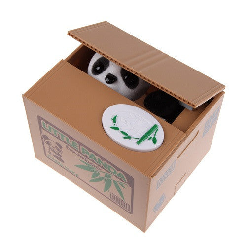 Greedy Cat or Panda Steal Coin Piggy Bank Automated Savings Box - themdeals - 4
