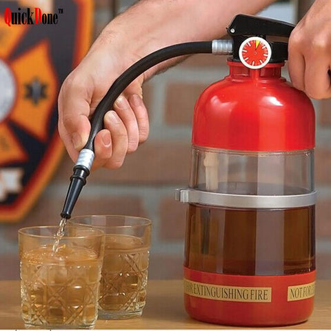 1.5L Fire Extinguisher Wine Drink Dispenser Cocktail Shaker Liquor Pump