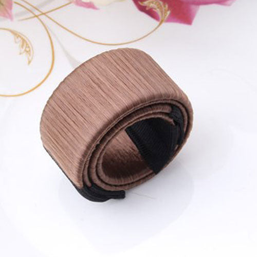 M MISM Girls French Hair Donut Bun Maker Styling Hair Fold Wrap Snap