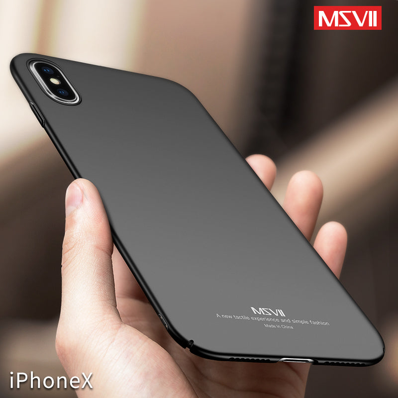 iPhone X Ultra Thin Slim Case Matte Business Super Thin Phone Case for Apple iPhone x Hard Cover Back