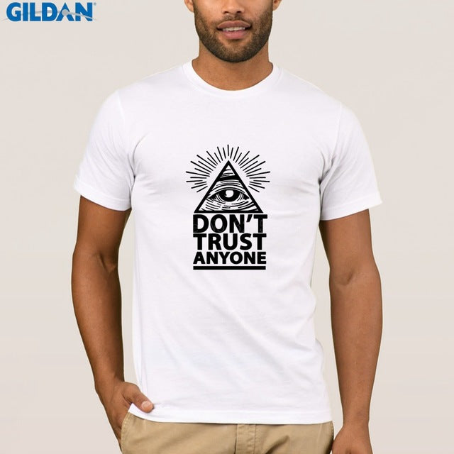 Great Illuminati Eye T-Shirt Man Don't Trust Anyone