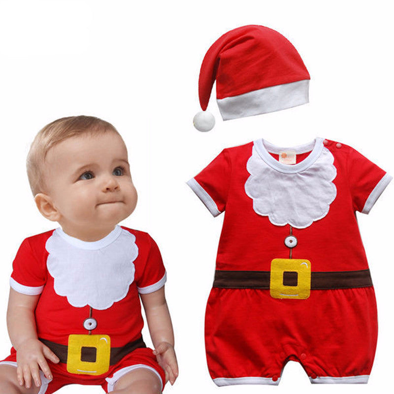 Christmas Unisex Baby Rompers & Hat (0-24 months)