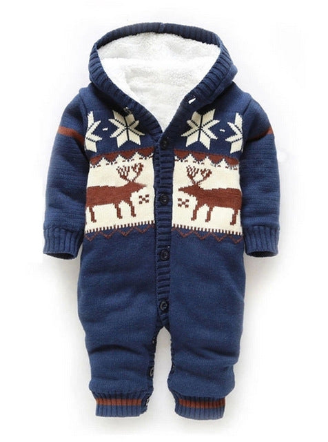 Cotton Padded Elk-Inspired Rompers