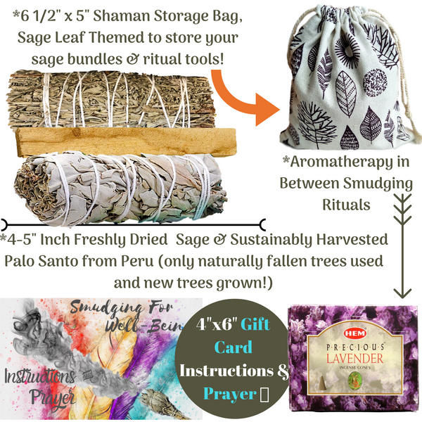 Sage Smudge Kit: ULTIMATE 12 Piece Spiritual Gifts Variety Smudging Kit, Smudge Kit, Worldly Finds, Worldly Finds