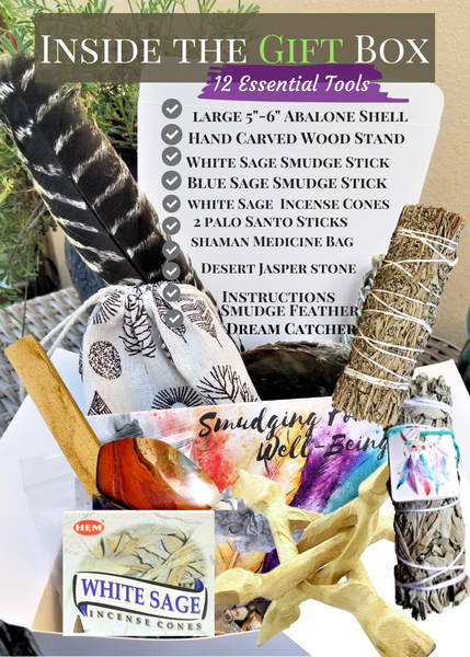 Spiritual Healing 12 Gifts Smudge Kit - Dream Catcher Home Blessing Kit