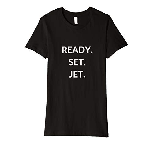 Globetrotter Women's T-Shirt Ready, Set, Jet Waderlust Tee, Apparel, Worldly Finds, Daily World Finds