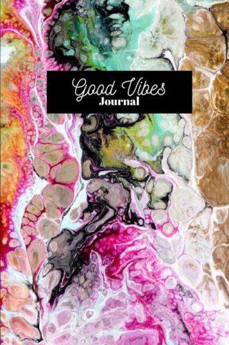 Good Vibes: Happiness Abstract Visual Rainbow Marble Journal, Journal, Daily World Finds, Daily World Finds