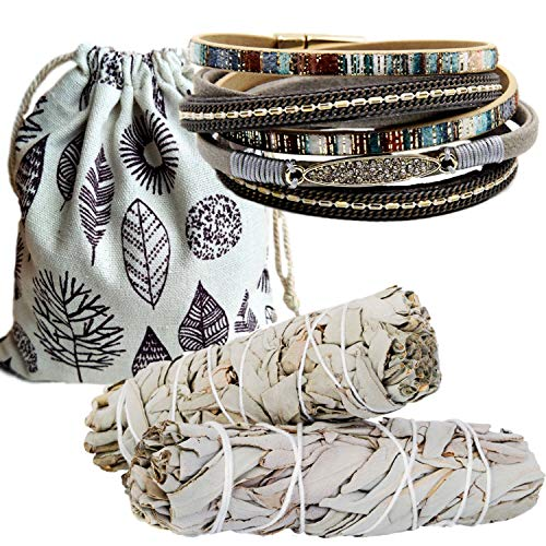 Sage Smudge Kit & Rhinestone Wrap Gift Set, Smudge Kit, Worldly Finds, Daily World Finds