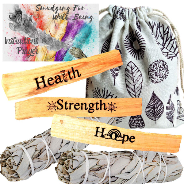 Palo Santo Engraved HEALING Smudge Refill Kit, palo Santo Kit, Worldly Finds, Worldly Finds
