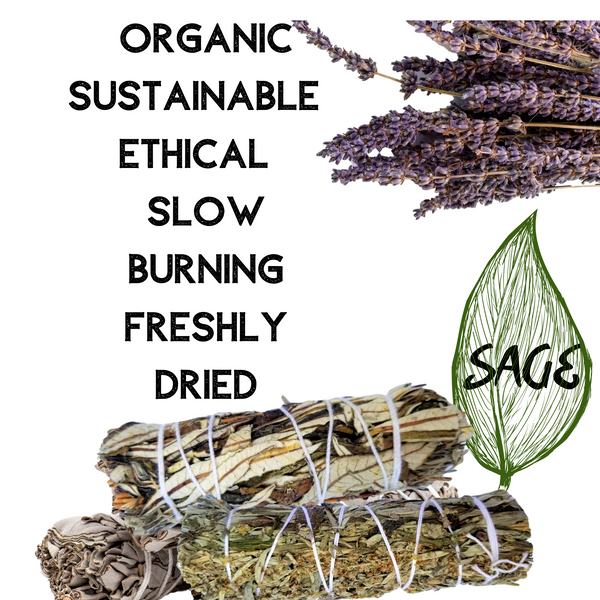 Smudging Kit - SAGE VARIETY Sampler 8 Gifts, Sage Incense Sticks, Smudge Kit Energy Cleansing Gift Set, Smudge Kit, Worldly Finds, Worldly Finds
