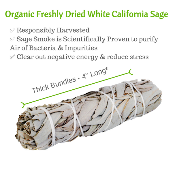 Sage Smudge Sticks, 10 White Sage Bundles Bulk Refill & Shaman Storage Bag, Sage Bundles, Worldly Finds, Worldly Finds