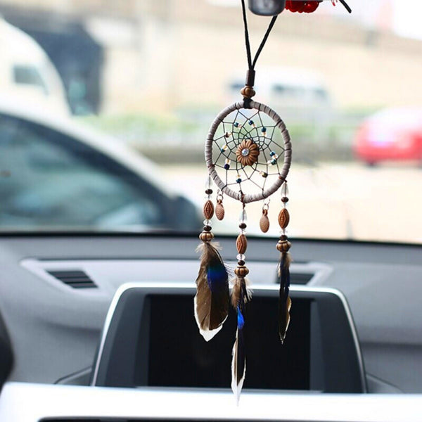 Mini Dream Catchers for Car Charm, Interior Rearview Mirror Accessories, Car Ornament, Car Hanging Decorations, Boho Small Dream Catcher
