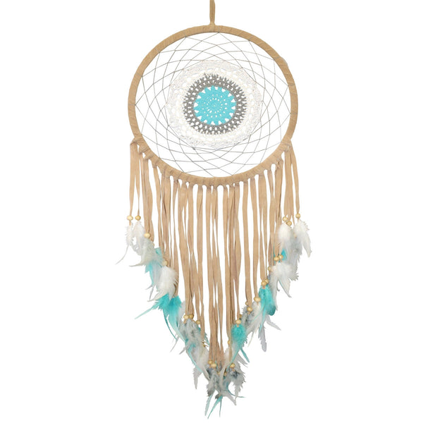 Large Dream Catcher, Aqua Blue Turquoise Dreamcatcher Wall Hanging, Boho Dreamcatcher, Boho Room Decor, Dream Catcher Gift,Big Dream Catcher