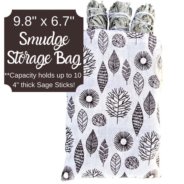Sage Smudge Sticks, 5 White Sage Bundles Bulk Refill & Shaman Storage Bag, Sage Bundles, Worldly Finds, Worldly Finds