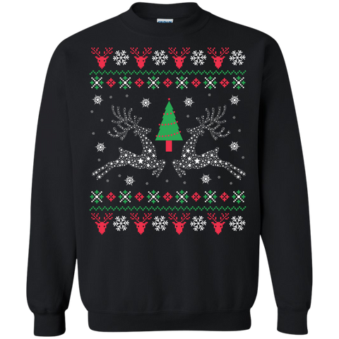 Starry Reindeer Ugly Christmas Sweater