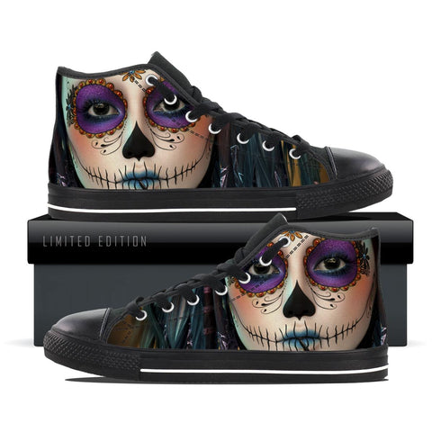 Skull Makeup Fun - Women's Shoe Size