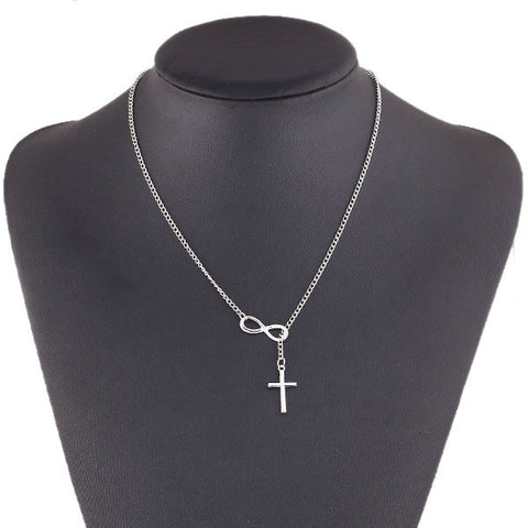 Silver Infinity Cross Necklace Free Plus Shipping