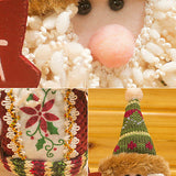 Santa Claus, Snow Man & Moose Doll Christmas Deocation