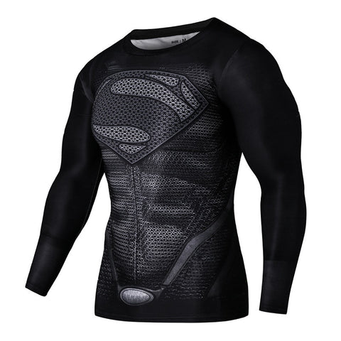 Superman Black Compression Shirt