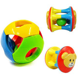 2pc Rattling Rolling Ball & Bell Grasp Toy