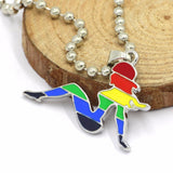 Lesbian Sistahood Rainbow Girl Necklace - Limited Edition