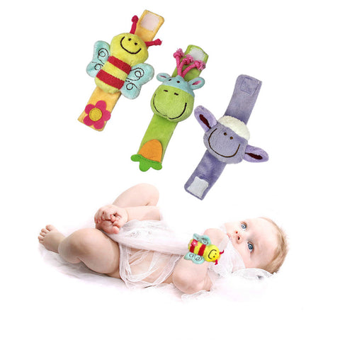 Baby Animal Wrist Rattle Toys